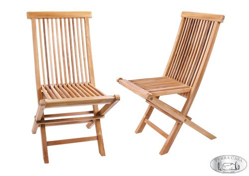 Gartenstuhl 2er Set MANADO Teak Holz Gartenmöbel Stühle Klappstuhl Stuhl Premiumqualität