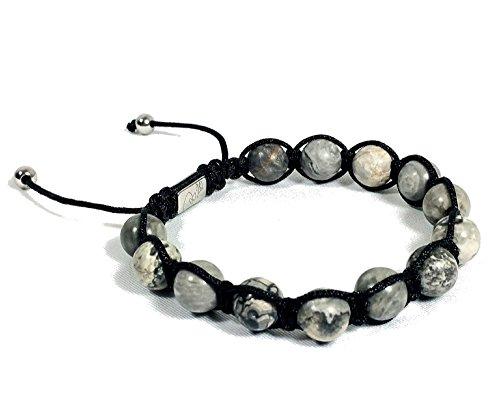 Jo.28 Designer Armband Mc Queen aus Handarbeit - Edles Perlenarmband mit 13 echten Jaspis- Perlen - Business- Armschmuck für - Jade Paracord