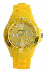 Rubba Unisex-Armbanduhr Analog silikon gelb R205-42YE