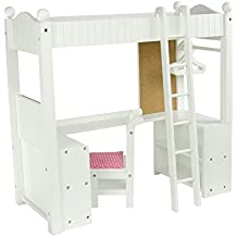 "Olivia's Little World - Cama litera doble con escritorio, mueble de muñeca 18"" (Primary Products TD-0204A)"