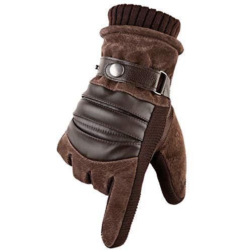 AmDxD Damen Sporthandschuhe Outdoor Laufhandschuhe Style 2 mit Touchscreen Funktion Braun Handschuhe - Strass Damen Handschuh