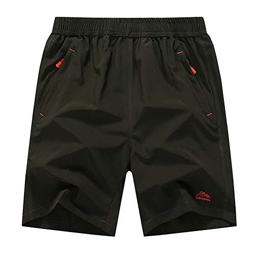 SXSHUN Hombres Bañadores Talla Grande XL-10XL Pantalones Cortos de Secado Rápido con Cordón, Verde...