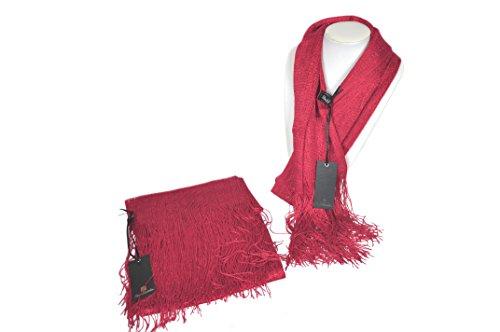Renato balestra stola a rete da donna abito cerimonia sciarpa scialle pashmina elegante (rosso)