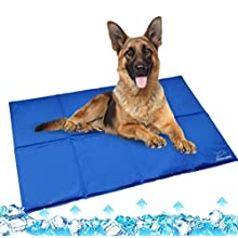 EXPAWLORER Dog Cooling Mat Extra Large 112x71cm - Pet Gel Self Cooling Pad Non-toxic in Summer for Dogs Cats, Suitable for Crates, Kennels and Beds
