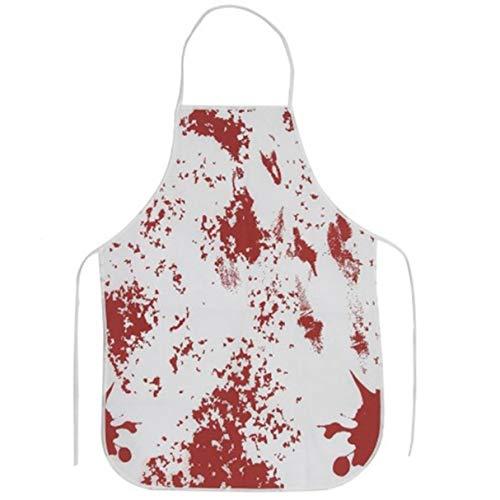 (Wafalano Halloween-Schürze, lustiger Entwurf blutige Schürze Halloween-Schürze Horror-Metzger Koch-Küchen-Koch-Schürze für Erwachsene Kostüm-Partei)