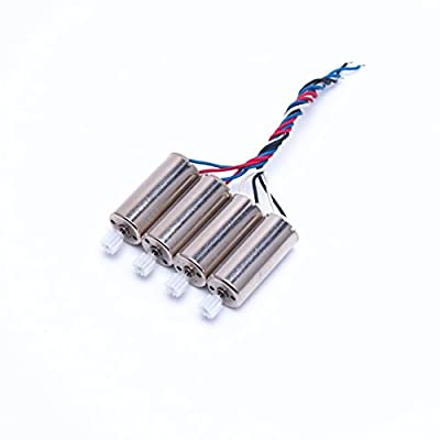 Wwman Spare Part Kit for U818A WiFi FPV Rc Quadcopter Drone 2pcs black white wire motor + 2pcs red blue wire motor space parts