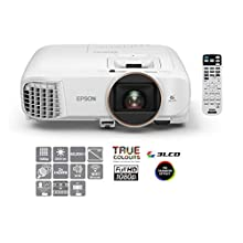 Epson EH-TW5650 3LCD, Full HD, 2500 Lumens, 300 Inch Display, Wi-Fi, Lens Shift, Home Cinema Projector - White