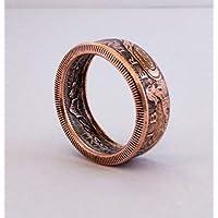 Coinring, Münzring, Ring aus Münze, Stehende Göttin Liberty Replik Münze Ring, handgemachte Siegel, Schmuck, Promise Ringe, Verlobungsring