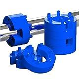 xenohype Blue Line Lot de 8 limiteurs de débattement à ressort avec 6modes de positionnement 22mm