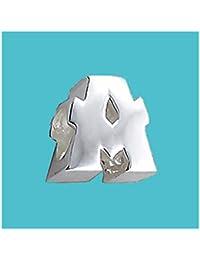 """Queen of Silver - Letra """"A"""" en 3D, plata de ley 925, para pulseras y cadenas -"""