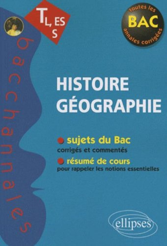 Histoire Géographie TL, ES, S