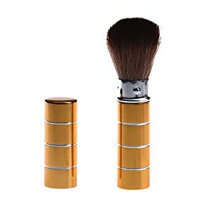 Generic E: Women' s Fashion Retractable Metal Brush Cosmetic Makeup Brushes Powder Foundation Blusher Brush Tool #Y