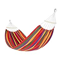 BingWS Safety Swing Hammock Camping Hanging Bed Swing Portable Double Chair Hammock Outdoor Swing Adult Chair Indoor Family Sleeping Pleasure Childhood (Color : Red, Size : 190 * 80cm)
