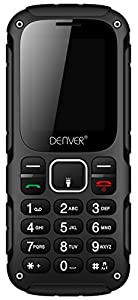 "Denver WAS-18110m Rugged Builders Phone - Rugged Mobile Phone With 1.77"" Colour Screen, Sim Free, Camera And Dual Sim Card Support"