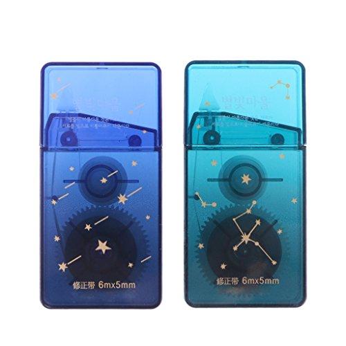 Senoow Roller korrigieren Tape Meteor Shell weiß Aufkleber Radiergummi Schule Büromaterial (1 Stück, Farbe zufällig)