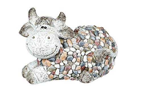 Kuh Bulle Ochse Stier Garten Deko Tier Figur Artikel Skulptur Statue Gartendeko (Schaf Oder Ziege Figur)