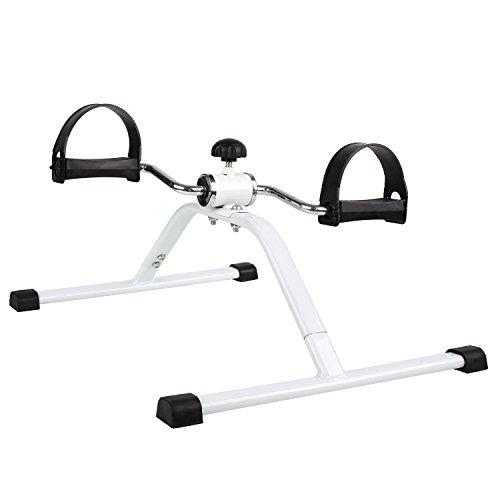 FEMOR Fitness Minifahrrad Beintrainer Trainiert Arm- , Beinmuskulatur & Ausdauer Vitaltrainer Trainingsgerät Bewegungstrainer Arm und Beine Pedaltrainer ,für zuhause/Büro unter den Schreibtisch