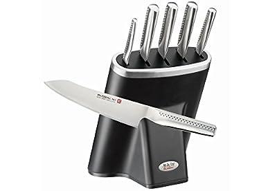 Global NI 6 Piece Knife Block Set Black