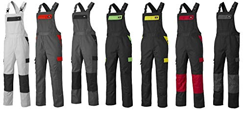 Dickies Everyday 24/7 Latzhose, Bib&Brace (B&B), in verschiedenen Farben und Größen, passend 24/7 Shorts und SH2007 Shirts (50, Schwarz/Lime)