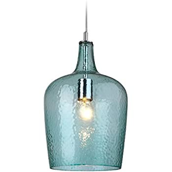 home for innovation p blue light glass pendant mini