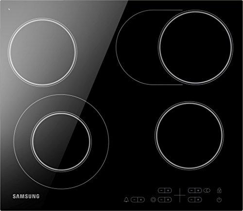 Samsung NZ64H25568K/EG Kochfeld (Elektro/Einbau)/4 57,5 cm/Sensortasten mit Touch-Control/Sicherheitsfunktion/Warmhaltefunktion/Schwarz
