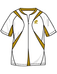 Lotto Camiseta Magma Hz, hombre, color blanco/oro, hombre, color wei�/gold, tamaño extra-large