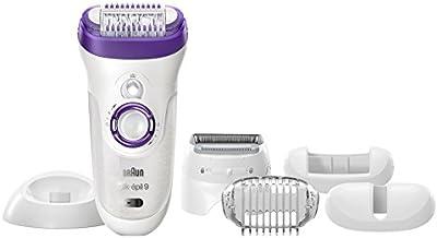 Braun Silk-épil 9 9-561 - Depiladora con tecnología Wet & Dry, sin cable, con 6 accesorios, incluido un cabezal de afeitado y un peine recortador