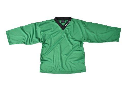 SHER-WOOD - Eishockey Trainingstrikot für Erwachsene I stilvolles Practice Jersey aus gelochtem, Grün, Gr. L