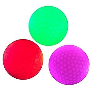 VORCOOL 3Pcs leuchtende Nacht Golfbälle LED leuchten Golfbälle...