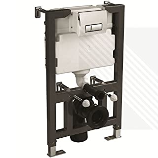 CYCLONE CONCEALED UNIVERSAL 0.82M - 1.00M WALL HUNG WC FRAME AND CISTERN WITH FLUSH PLATE