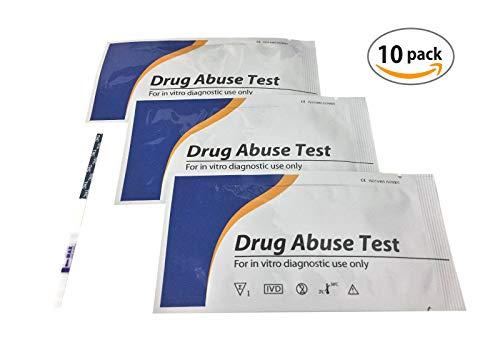 10 Stück Drogenschnelltest THC | Cut-off: 50 ng/ml | Cannabis Marihuana Haschisch Drogentest Urintest Schnelltest Teststreifen by 7 Zepter