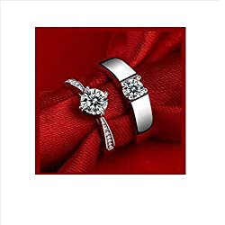 dc jewels Sterling Silver Couple Ring for Men and Women