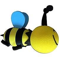 QILEGN - Adorable Bola de Antena para Coche, diseño de Abeja Feliz