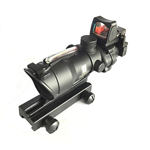 ACOG TA31 Stil Functional Fibre 4X32 Umfang (Rot Fiber) mit RMR Leuchtpunktvisier (nur airsoft) (Visier Acog)