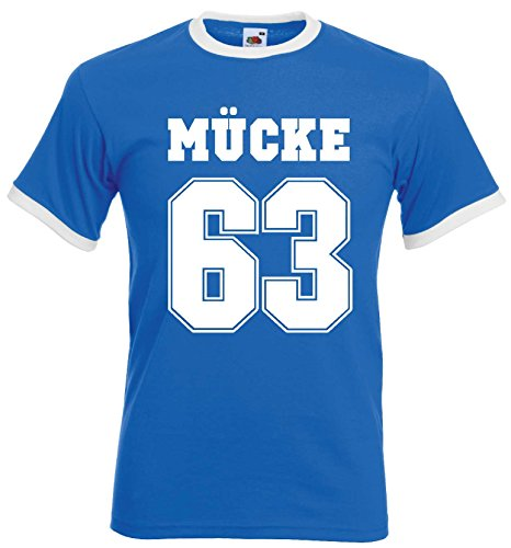world-of-shirt Herren Retro T-Shirt Mücke 63 Buddy Movie Filmroyal-XL (Retro Männer T-shirt)
