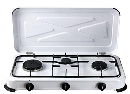 Bcalpe BG03BSM Cocina Gas 3 Fuegos, Blanco, 33.4x60.5x10 cm