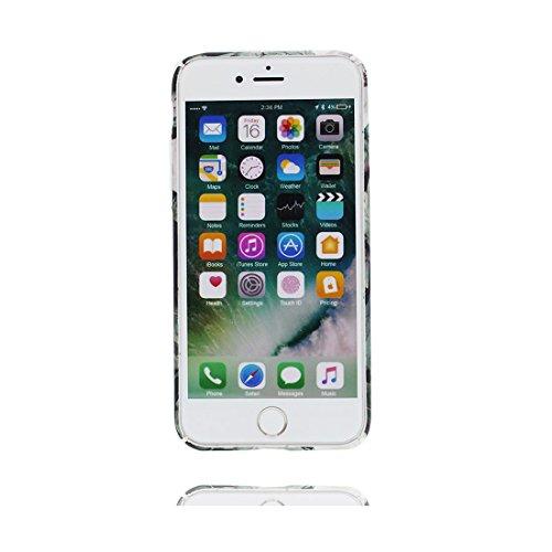 iPhone 7 Custodia, iPhone 7 Copertura 4.7, | TPU durevole Case Per le ragazze delle signore |, Gomma morbida del gel/ Cover / evidente/ Foglie di banana Camelia