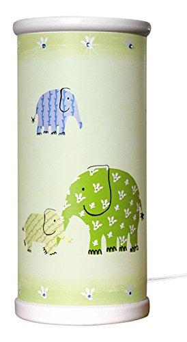 Waldi Leuchten Tischleuchte DG green elephants inklusive LED Leuchtmittel WAL-81248.3 (Strass Dg Designer)