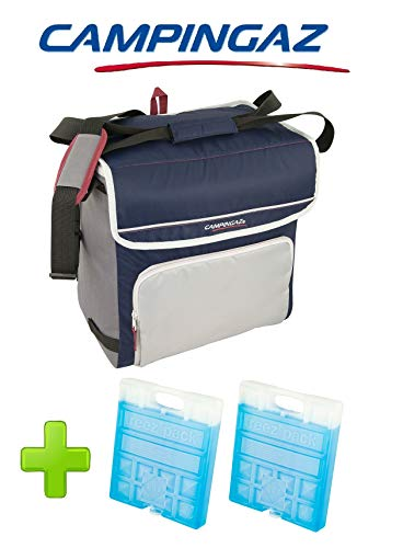 ALTIGASI Sac Thermique Campingaz Fold'N Cool Campingaz de 30 litres avec bandoulière réglable et et Pochette Frontale- Prestation jusqu'à 12 Heures + 2 pièces Freez Pack M20