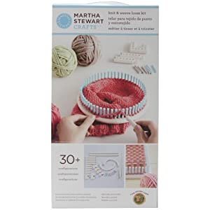 41dmVSvEvEL. SS300  - Lion Brand Yarn Company 1 pezzo Martha Stewart Crafts Knit and Weave Loom Kit