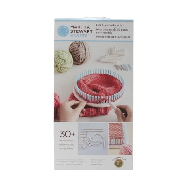 41dmVSvEvEL. SS600  - Lion Brand Yarn Company 1 pezzo Martha Stewart Crafts Knit and Weave Loom Kit
