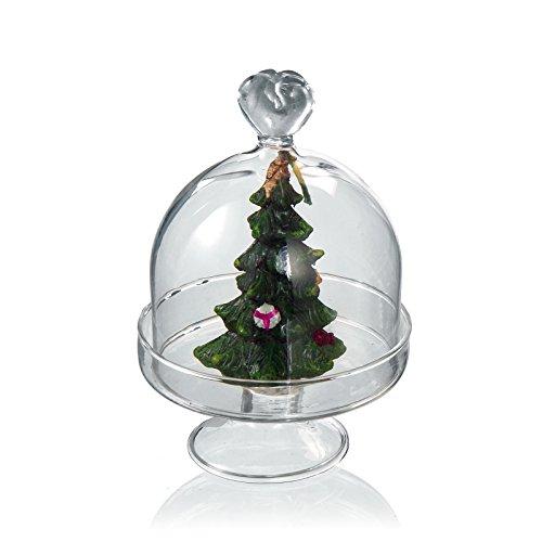 'Présentoir à gâteaux avec couvercle Cœur avec lien – Argent 925 ° ° ° intérieur bougie en cire Arbre de Noël Diamètre cm 7,5 x 11H