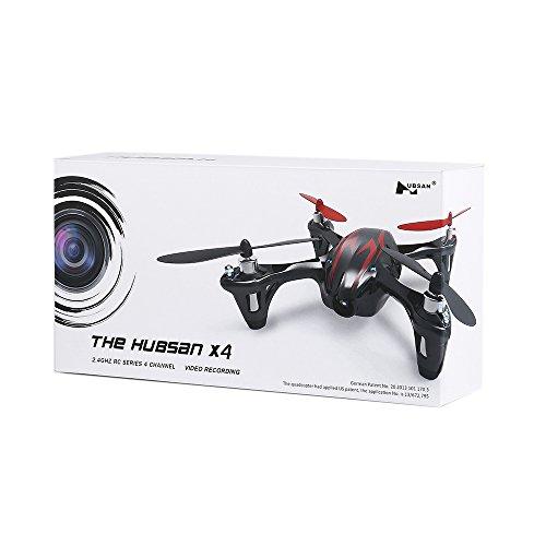 Hubsan Drohne H107C X4 Quadrocopter 2.4 Ghz 4 Kanal mit 480P Kamera (Rot Schwarz) - 7