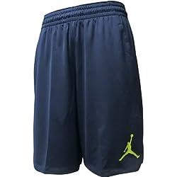 Nike 23 Alpha Dry Knit Pantalón Corto Línea Michael Jordan, Hombre, Azul (Armory Navy / Electrolime), M