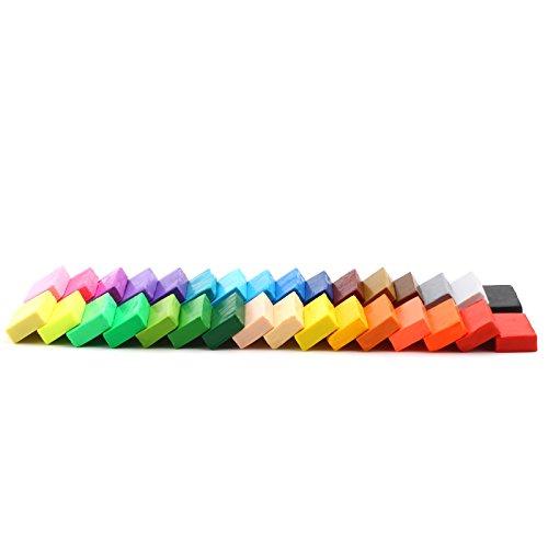 MultiWare Colore misto 32 Argilla Fimo Malleabile Effetto Morbido Blocchi DIY (Argilla 14 Confezione)