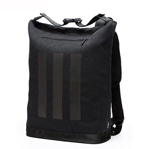 Art- Und Weisesegeltuch-Kursteilnehmer-Schule-Rucksack-Spielraum Daypack-Geschäfts-beiläufiger Computer-Schulter-Beutel,Black BlackB