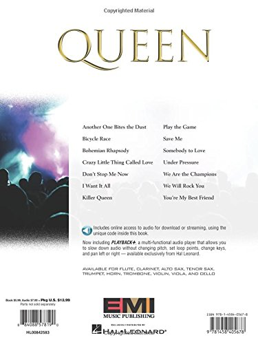 Queen: Clarinet (Hal Leonard Instrumental Play-Along)