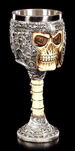 Totenkopf Kelch - Mein Blut für Dich | Gothic Fantasy Deko Figur