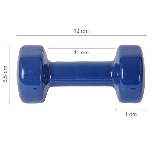 Vinyl Hantel Paar Ideal für Gymnastik Aerobic Pilates 0,5 kg – 10 kg | Kurzhantel Set in versch. Farben (2 x 4 kg) - 6