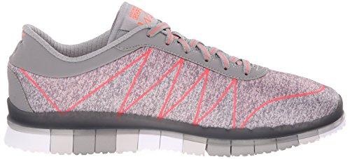 Skechers - Go Flex Ability, Sneaker Donna Gray/Coral